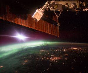 Aurora seen from ISS