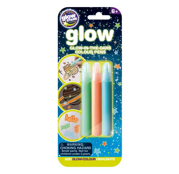 Brainstorm The Original Glowstars Company Glow Creations Glow in the Dark Pens